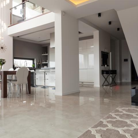 Photo of light new design two storey villa interior