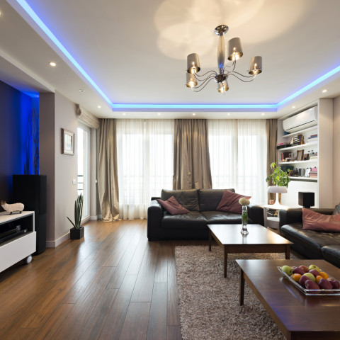 Spacious living room interior
